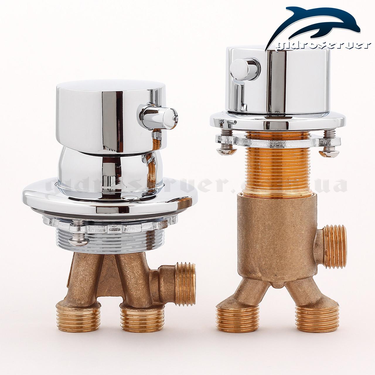 Набір кранів для гідромасажної ванни, джакузі J-7045 з перемикач на 2 положення.