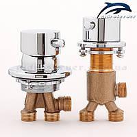 Набір кранів для гідромасажної ванни, джакузі J-7045 з перемикач на 2 положення., фото 1