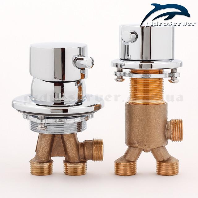 Набір кранів для гідромасажної ванни, джакузі J-7045 з перемикачем на 2 режиму роботи.