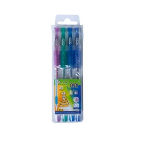 Набор Zibi 2200-99 гелевые ручки 4 цв. Глиттер с блестками (1)