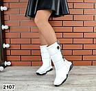 Зимние женские  дутики белого цвета, натуральная кожа 36, 40 ПОСЛЕДНИЕ РАЗМЕРЫ, фото 2