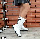 Зимние женские  дутики белого цвета, натуральная кожа 36, 40 ПОСЛЕДНИЕ РАЗМЕРЫ, фото 3