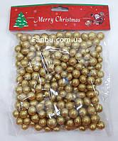 Золотые пенопластовые шары 1 см ,новогодний декор для украшения