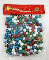 Цветной новогодний декор- шарики 1см из пенопласта, фото 1