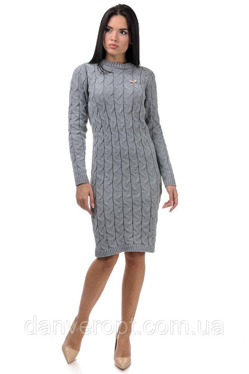 Платье женское стильное модная вязка размер универсальный 44-48 купить оптом со склада 7км Одесса