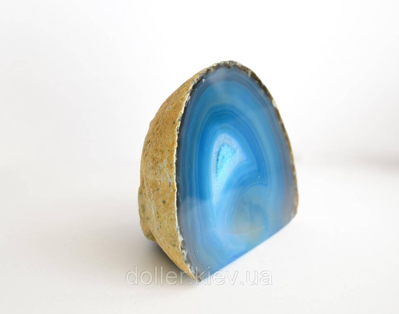 Агатовая жеода с кристаллами горного хрусталя (бирюзовая гамма)
