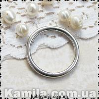"""Коннектор """"кольцо"""" серебро (2,5х2,5 см) 5 шт в уп."""