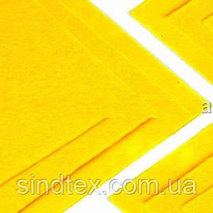 Фетр жесткий 1мм 20 х 25 см  Цена за 1 лист. Цвет -  желтый