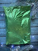 Присыпка - блеск (глиттер), около 1 кг, зеленого цвета
