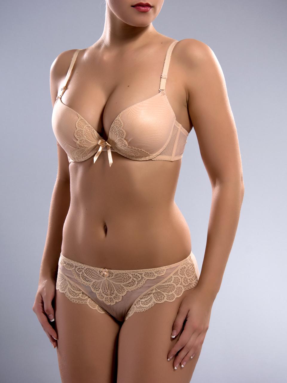 Комплект женского нижнего белья Acousma A6419BC-P6419H, цвет Бежевый, размер 75C-M