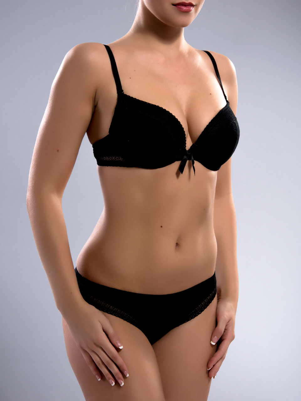 Комплект женского нижнего белья Acousma A6358-1BC-P6358H, цвет Черный, размер 85B-XL