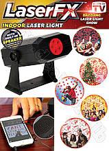 Лазерный проектор Laser FX Indoor laser light/ 5 картриджей под разные праздники