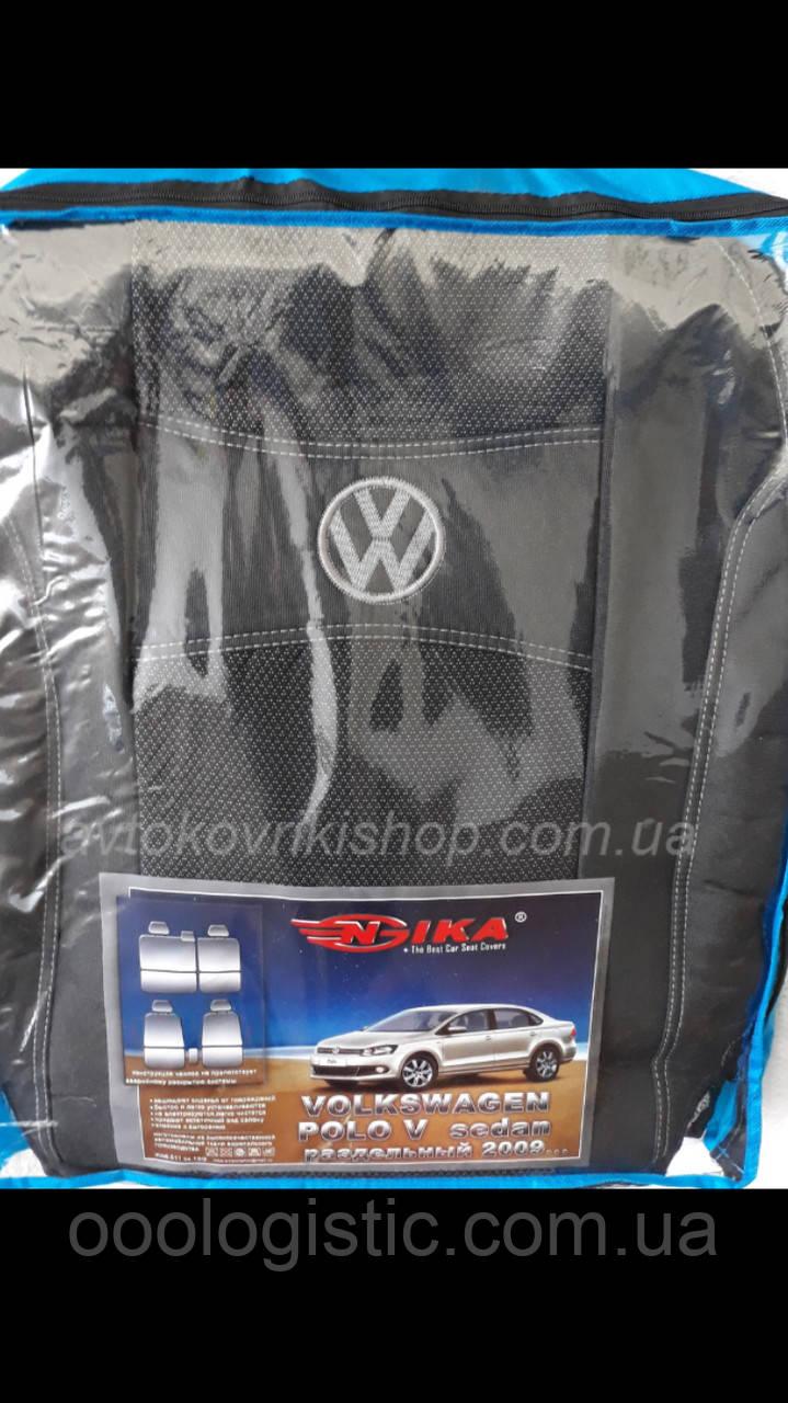 Авточехлы Volkswagen Polo V 2009- (раздельная) Nika поло Фольксваген