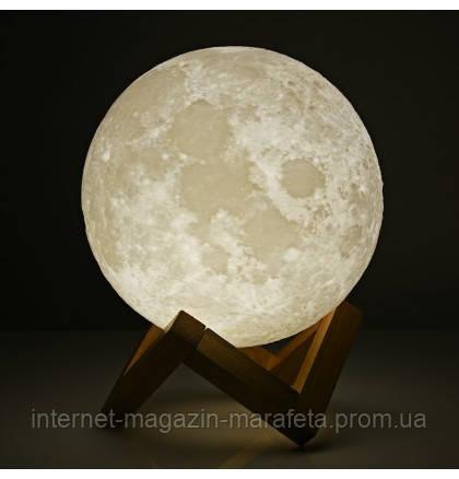 Ночник Луна, ночник 3D Moon Lamp, 18 см./  от сети