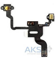 Шлейф для Apple iPhone 4 кнопки включения с датчиком приближения и микрофоном Original