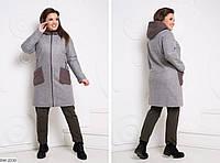 Пальто  женское  батал  Карина, фото 1