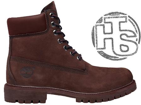 Мужские ботинки Timberland Classic Boots Brown (с мехом), фото 2