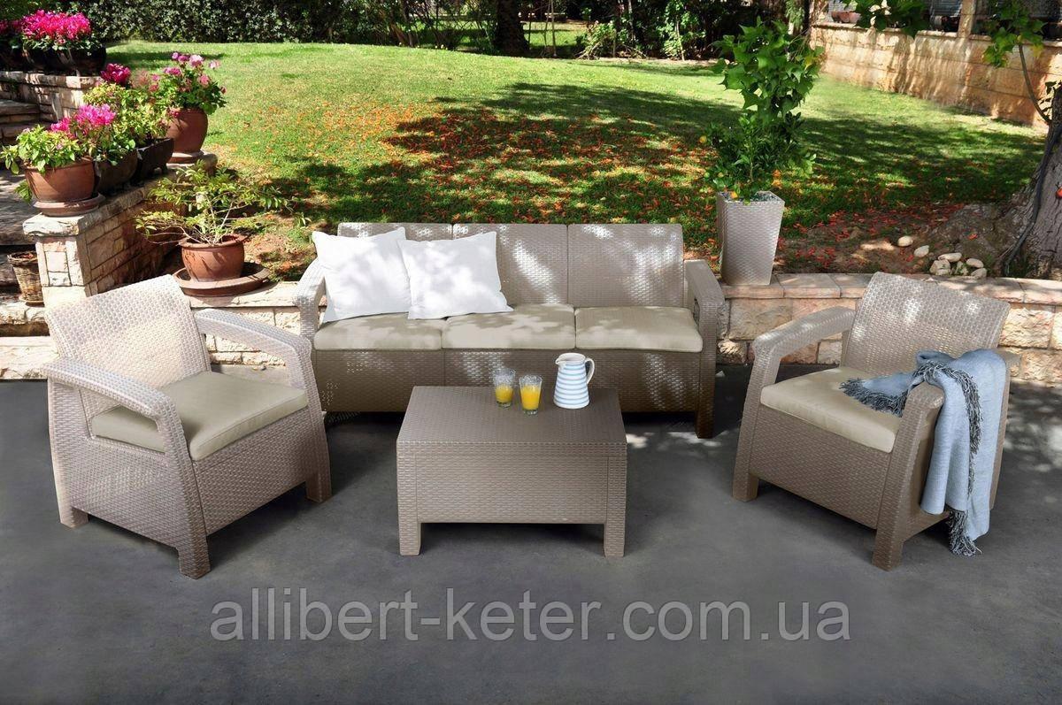 Набор садовой мебели Corfu Set Max из искусственного ротанга