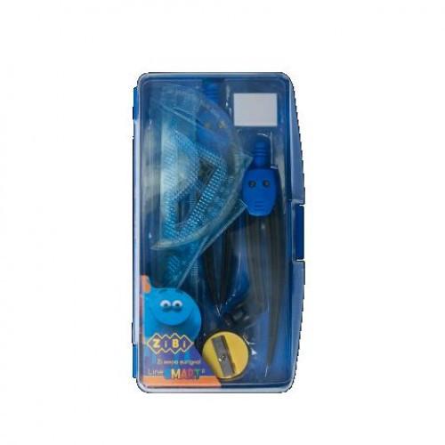 Готовальни ZiBi 9 предметов 5317-02 синяя SMART (1/8)