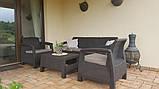 Набір садових меблів Corfu Set Max Brown ( коричневий ) з штучного ротанга ( Allibert by Keter ), фото 2