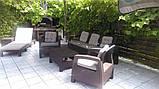 Набір садових меблів Corfu Set Max Brown ( коричневий ) з штучного ротанга ( Allibert by Keter ), фото 8