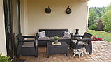 Набір садових меблів Corfu Set Max Brown ( коричневий ) з штучного ротанга ( Allibert by Keter ), фото 10