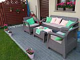 Набор садовой мебели Corfu Set Max Cappuccino ( капучино ) из искусственного ротанга ( Allibert by Keter ), фото 2