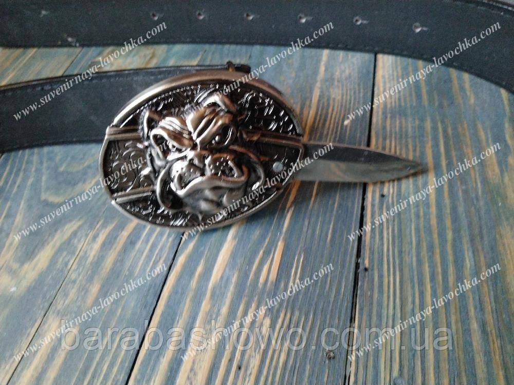 """Нож ремень """"Бульдог"""". Кожаный"""