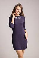 Стильно теплое платье с рукавом-реглан, фото 1