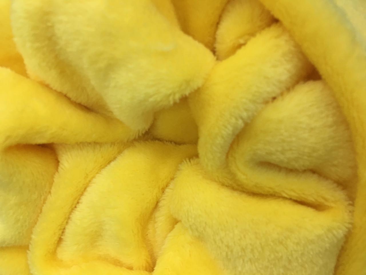Плед 190*120, жёлтый