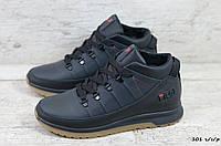 Мужские кожаные зимние ботинки/кроссовки Fila (Реплика) (Код: 101 ч/с/р  ) ►Размеры [40,43,44], фото 1