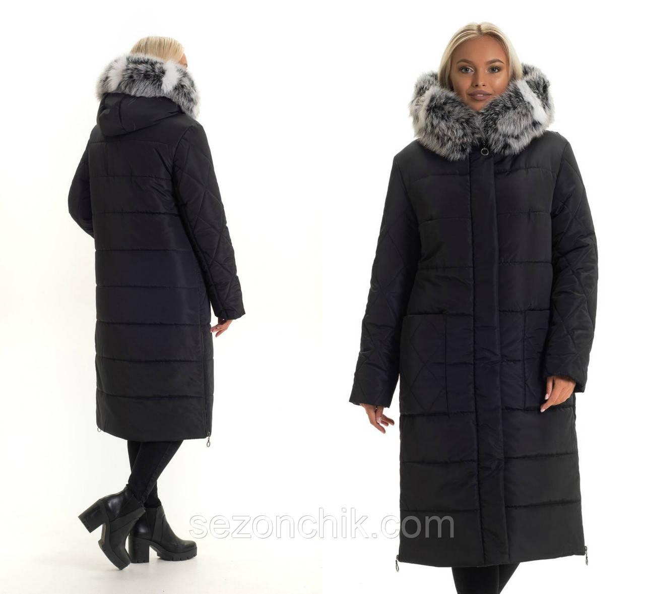 Зимние женские пальто с натуральным мехом