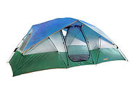 Палатка туристическая для кемпинга 4 местная двухслойная