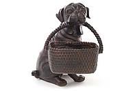 Декоративная статуэтка Собака с корзиной 21см BonaDi 447-312
