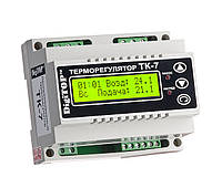 Терморегулятор с недельным программатором. Поддержание заданной температуры воздуха в помещении согласно заданной программы. Управление электрокотлом и насосом.
