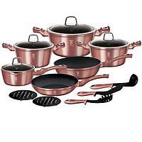 Набор посуды 15 предметов Berlinger Haus I-Rose Edition BH-6045