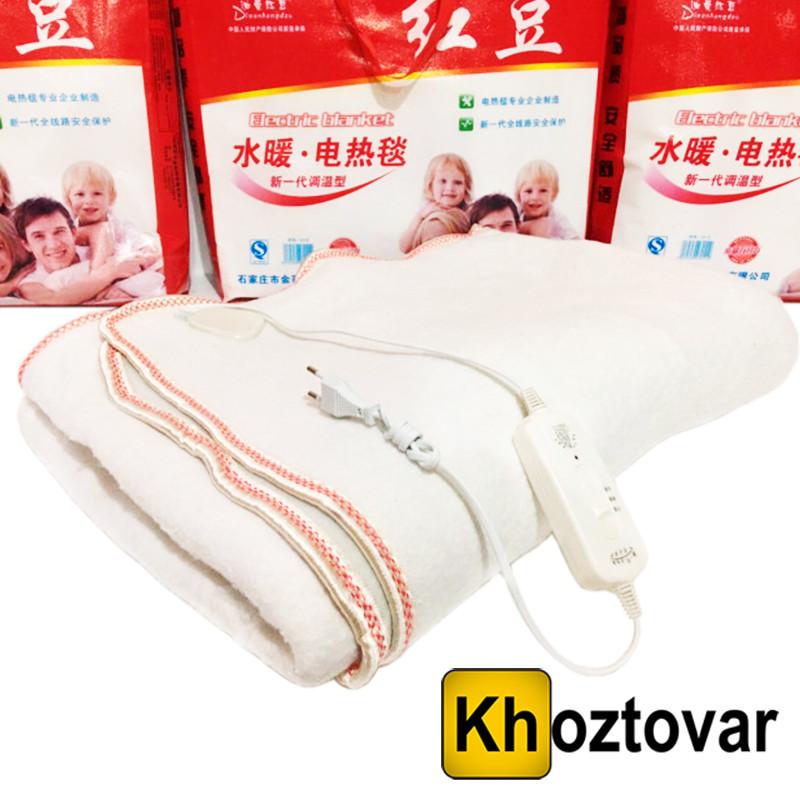 Электропростынь с регулятором температуры Electric Blanket White