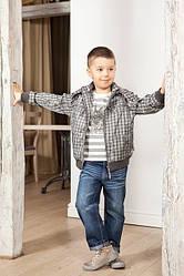 Куртка демисезонная клетчатая для мальчика (QuadriFoglio, Польша)