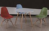 Стол обеденный Тауэр Вуд белый на буковых ножках круглый 60 см SDM Group (бесплатная доставка), фото 4