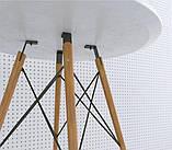 Стол обеденный Тауэр Вуд белый на буковых ножках круглый 60 см SDM Group (бесплатная доставка), фото 5