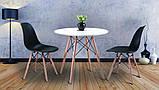 Стол обеденный Тауэр Вуд белый на буковых ножках круглый 60 см SDM Group (бесплатная доставка), фото 6