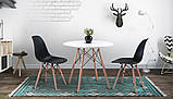 Стол обеденный Тауэр Вуд белый на буковых ножках круглый 60 см SDM Group (бесплатная доставка), фото 8