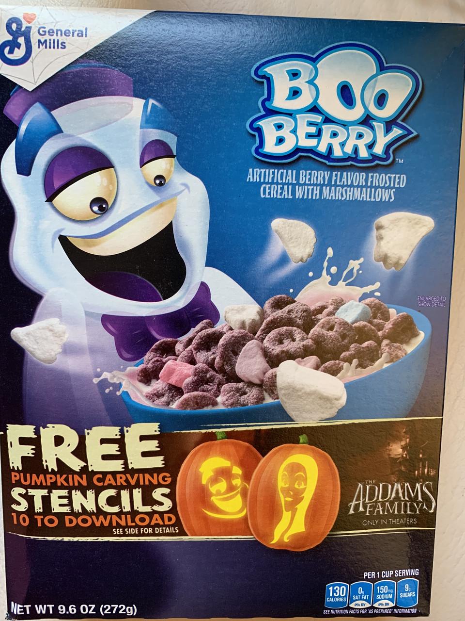 Сухой завтрак Boo Berry хрустящий с маршмэллоу