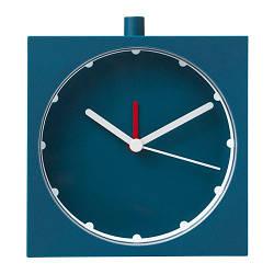 ИКЕА (IKEA) BAJK, 903.736.46, Будильник, темно-синий, 10x10 см - ТОП ПРОДАЖ