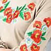 """Платье-вышиванка """"Маки №4"""" (с длинным рукавом), фото 5"""