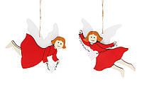 Новогоднее украшение-подвеска 14см Ангел, 2 вида BonaDi 785-203
