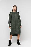 SEWEL Платье PW712 (One Size, темно-зеленый, 67% акрил/ 29% хлопок/ 4% полиамид)