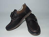 Туфли коричневые Липучка 27-31 р