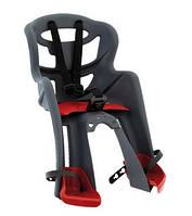 Сиденье переднее BELLELLI TATOO Sportfix, серо-красное