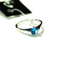 Кольцо в серебре с голубым камнем